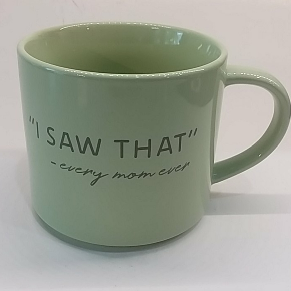 "Threshold Other - ""I SAW THAT"" 2 Threshold coffee mugs mint green"